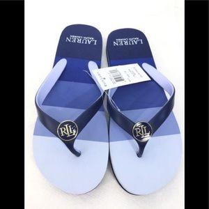 Ralph Lauren Elissa Thong Sandal Navy